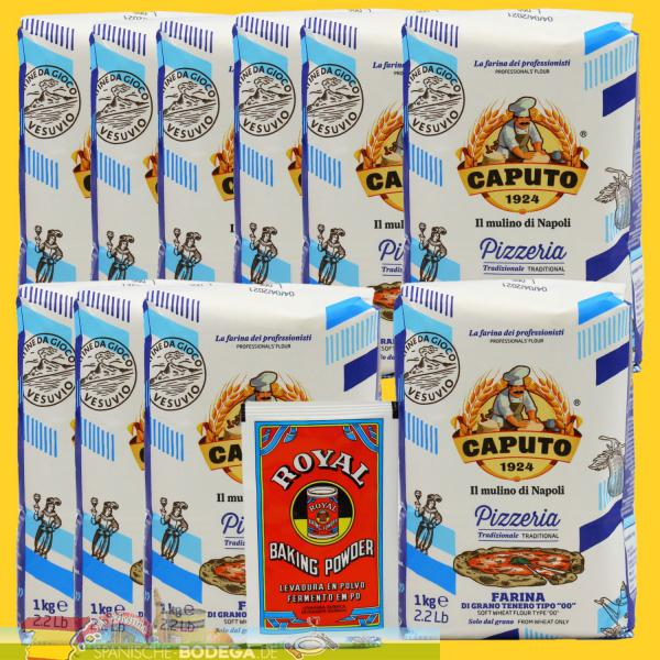 10 x 1kg + (BP) Caputo Farina Pizzeria Tipo 00 + 1 Royal Backpulver 10kg
