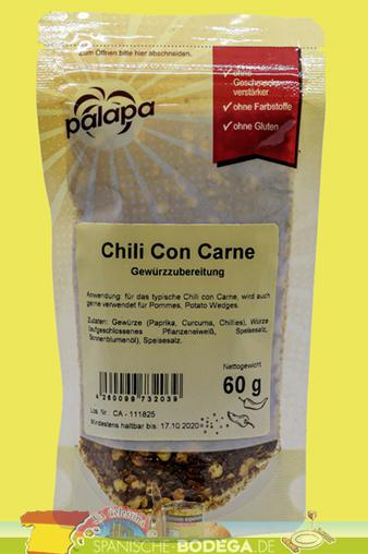 Palapa Chili con Carne Gewürzzubereitung 60g