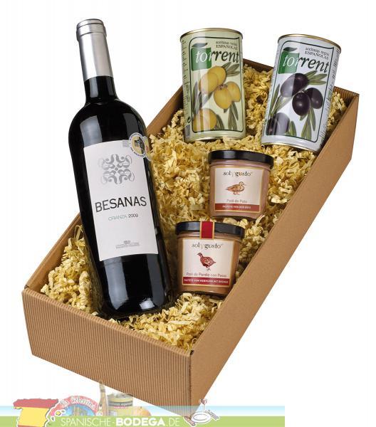 gourmet paket aus spanien mit rotwein spanische bodega ihr fachh ndler f r die kulinarische. Black Bedroom Furniture Sets. Home Design Ideas