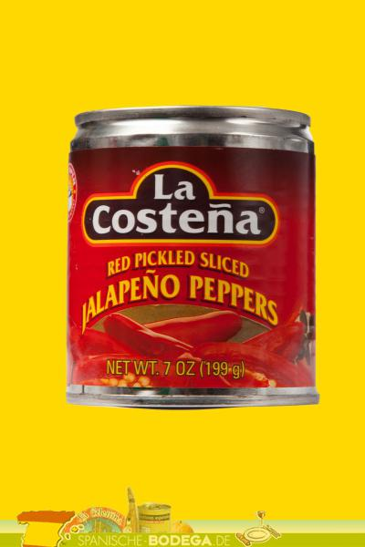 La Costena Red Pickled Sliced Jalapenos rote Jalapenoscheiben 199g