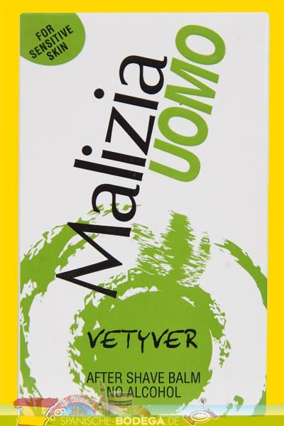 Malizia Uomo Vetyver After Shave Balm No Alcohol