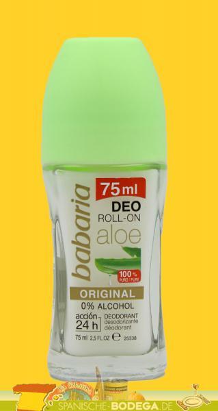 babaria Aloe Vera Roll On Deodorant 75ml