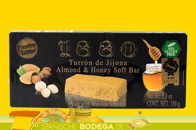 1880 Turron de Jijona Almond & Honey Soft Bar Weich