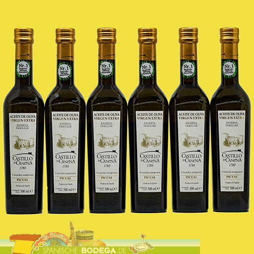6 x 500ml Castillo de Canena Reserva Familiar Picual 3.000ml