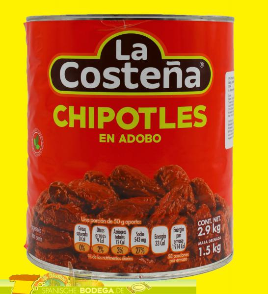 La Costeña Chili Chipotle adbados in Adobo Sauce 2,8kg
