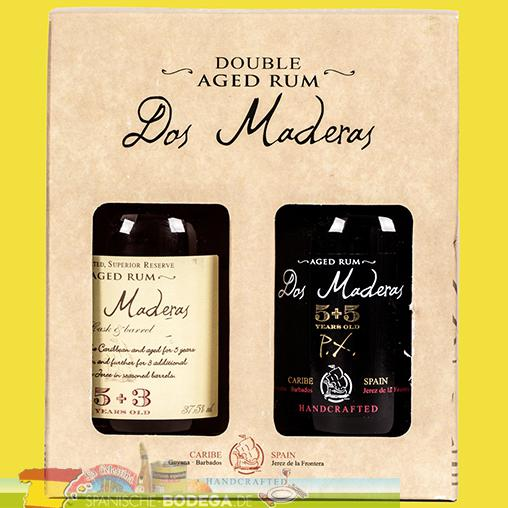 Dos Maderas Double Aged Rum - Set (5+3, PX5+5) je 20cl