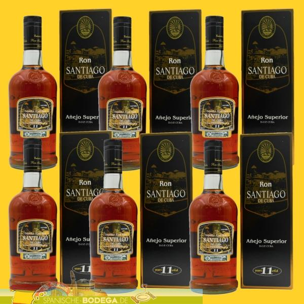6 x 700ml Ron Superior Anejo 11 anos 4.200ml
