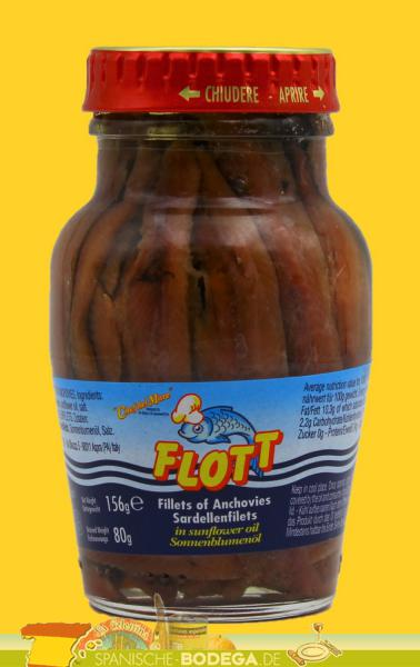 Flott Filetti di Alici in olio di semi di girasole 42g
