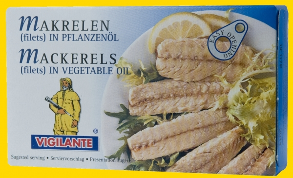 Filetes de Caballa, Makrelen filets in Pflanzenöl Vigilante 58g