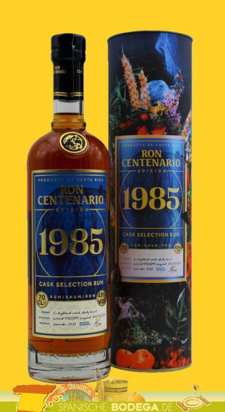 Ron Centenario 1985 cask selection Rum 70cl