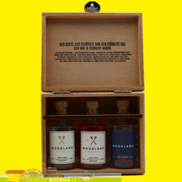 Woodland Sauerland Dry Gin 3er Mini Box 150ml