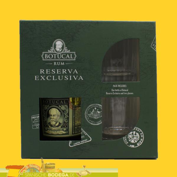 GS Ron Botucal Reserva Exclusiva 70cl + 2 Gläser