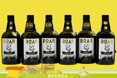 6 x 500ml Boar Black Forest Dry Gin 3.000ml