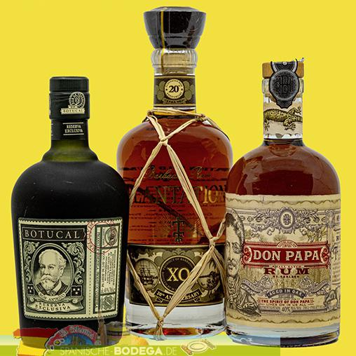 Set 3 Fl - Botucal 12Y 70cl, Plantation XO 70cl, Don Papa 70cl