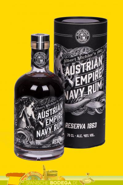 Austrian Empire Navy Rum Reserva 1863 40% Vol. 0,7 Liter