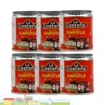 6 x 199g La Costeña Chipotles Peppers in Adobo Sauce 1.194g