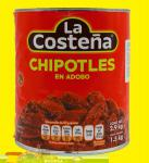 La Costeña Chili Chipotle adbados in Adobo Sauce 1,5kg