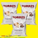 3 x 125g Torres Selecta Black Truffle Premium Chips 375g